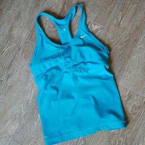 Nike electric blue workout tank/bra small